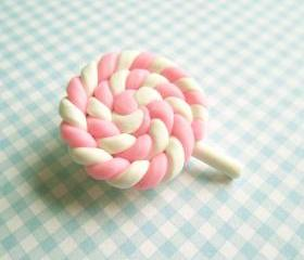 Marshmallow Swirl Lollipop Brooch